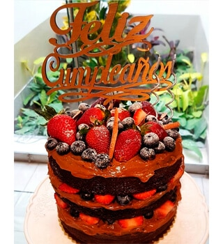 torta personalizada chocolate para cumpleanos 1 - Fantasy Events